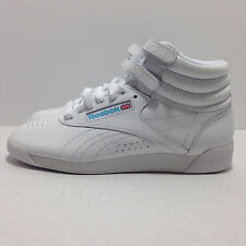 Reebok Women's Freestyle High Top White Leather Classic