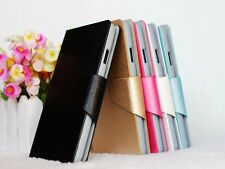 For Alcatel one touch S'POP OT 4030 D PU Leather Flip Stand Wallet Case Cover