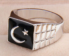 Islamic Moon Star Arab Turkish Flag Ring jewelry charm men women muslim خاتم Hot