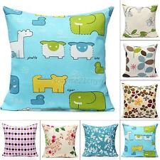 Simple Colorful Cotton Cloth Throw Waist Pillow Case Sofa Cushion Covers Square