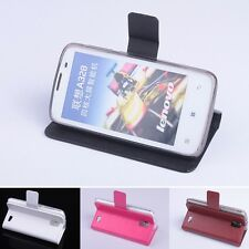 "Flip PU Leather Case Cover Stand For 4.5"" Lenovo A328 Android Smart mobile phone"