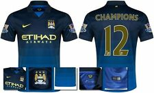 *14 / 15 - NIKE ; MAN CITY AWAY SHIRT SS + PATCHES / CHAMPIONS 12 = SIZE*