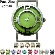 Ladies Double Dial Solid Bar Ribbon Fashion Watch Face 35mm