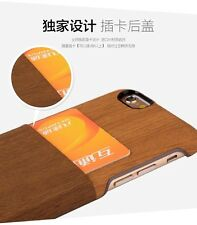 Kajsa Wood Leather Back Cover Case+Wallet Card Film For Apple iPhone 6  4.7""