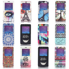 View Window Flip Leather Stand Cover Case For Samsung Galaxy S5 Note 3 Note 4