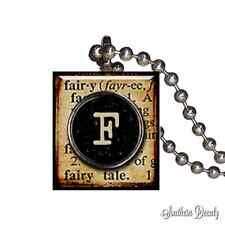 Fairy Dictionary Typewriter - Scrabble Tile Pendant Necklace Jewelry - P67