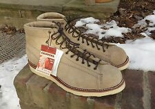 NEW tags CHIPPEWA Bridgeman Lace to Toe SAND SUEDE Boots MENS FREE SHIP 1901M36