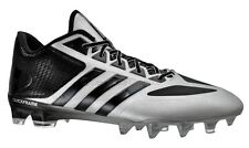 New ADIDAS CRAZYQUICK Low Mens Football Cleats - Silver / Black - Crazy Quick