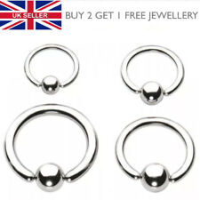 Ball Closure Ring BCR - Lip, Tragus, Nose, Eyebrow, Nipple Ring Hoop Stud - UK