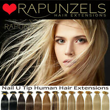 """25 strands 18"""" U Nail Tip human hair extensions pre bonded indian remy grade AAA"""