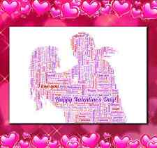 COUPLE ROMANTIC WORD ART FOR VALENTINES AFTER HER OR HIM,  LOVE GIFT