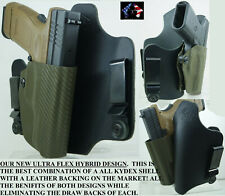 SPRINGFIELD ARMORY  LEATHER KYDEX HYBRID HOLSTER  IWB CONCEALED HOLSTER