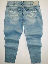 New Silver Jeans AIKO Mid-Rise Skinny Leg Plus Size 50116A