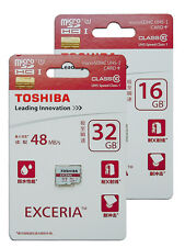 Toshiba 16GB 32GB 16G 32G up to 48MB/s Micro SD Micro SDHC Memory Card Class 10