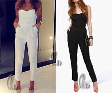 AU STOCK WOMENS SZ 6-14 SEXY OVERALL JUMPSUIT PLAYSUITS PARTY OFFICE PANTS JU003