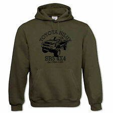 Mens Hoodie Featuring A Picture Of A Off Road 4X4 Toyota Hilux SR5 Truck