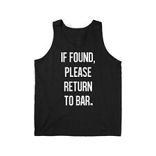 If Found Return To Bar Saint Patrick's Day Funny Drinking Green - Mens Tank Top