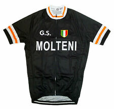 GS MOLTEN  RETRO CYCLING TEAM BIKE JERSEY - Eddy Merckx - Made in Italy (Black)