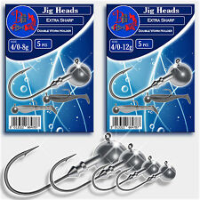 Ball Jig Head Sharp Hook size 4/0 Drop Shot Soft Lures Pike Trout Sea Fishing