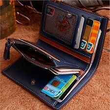 NEW Coin Purse Wallet PU Leather ID Credit Card Holder Business Case Man  Zipper