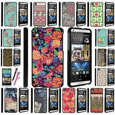 HTC Desire 816 Fitted Snap On Image Graphic Designs on Black Hard Case Cover