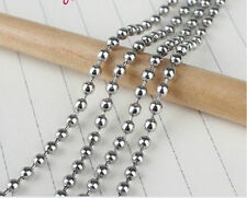 Wholesale Link Silver 3.2mm Stainless Steel  Balls Chain For DIY Making Jewelry