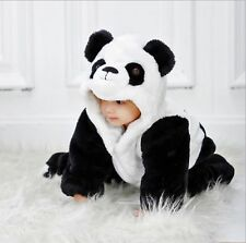 Hip Hop Cat Baby Unisex Panda Winter Thick Jumpsuit with Hood Outfit