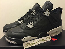2015 NIKE AIR JORDAN IV 4 LS RETRO BLACK TECH GREY OREO 7 8 9 10 11 REMASTERED
