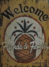 "LS1259 Welcome Pineapple Linda Spivey 12""x16"" framed or unframed print art"