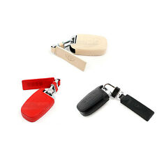 Natural Leather Smart Key Case Holder 3 button for HYUNDAI KIA All Car Vehicle
