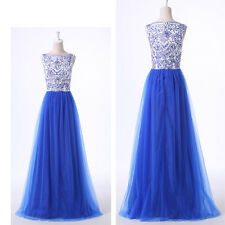 BLUE 2015 Long Masquerade Ball Gowns Evening Party Petite Dress Prom Semi Formal