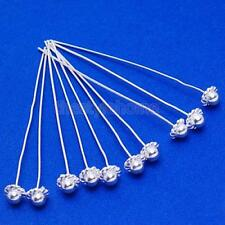 50pc Silver/Gold Plated Ball End Dot Pins Headpins 1.5'' 2'' Craft - U Pick