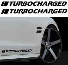 "(x2) Pair of 2: 11"" Turbocharged Decals JDM Euro Door Turbo Racing Stickers"