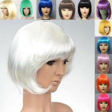 Women's Fashion BOBO Cosplay Party Full Wigs Hair Full Bangs Short Straight Wig