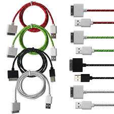 Braided USB Sync Charging Cable for iPhone 3 3GS 4 4S iPod Touch 4 iPad 1 2 3