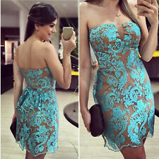 Sexy Evening Party Ball Prom Gown Formal Bridesmaid Cocktail Lace Short Dress