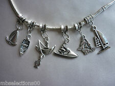 Jet ski, Yacht, Dinghy, Fishing Boat Nautical Collection - suit charm Bracelet