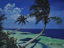 "WE3130 Palm Tree View Scott Westmoreland 12""x16"" framed or unframed print"