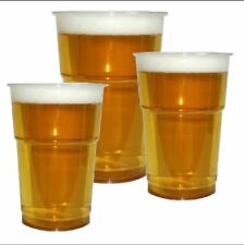 Pint / Half 1/2 Clear Plastic Disposable Beer Glasses Cups Tumblers CE Marked