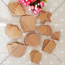 100x blank brown hang tag label wedding party favor gift price card note