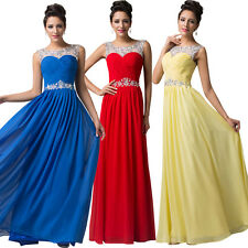 PLUS SIZE Red Evening Formal Party Dress Ball Gown Prom Bridesmaid Long Dresses