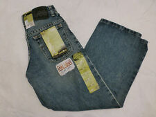 NWT BOYS LEE LOOSE STRAIGHT LEG JEANS ADJUSTABLE WAISTBAND DELTA FADE