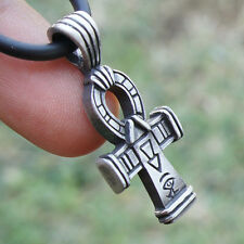 Ankh Egyptian Key Nile Cross Breath of life Crux Ansata Pagan pewter pendant
