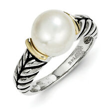 Freshwater Cultured Pearl Ring .925 Sterling Silver Antique Sz 6-8 Shey Couture