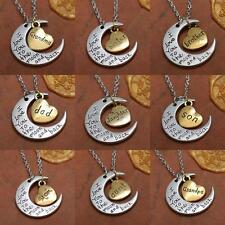 Fashion New Jewelry I Love You To The Moon And Back Necklace Pendant Chain G C76