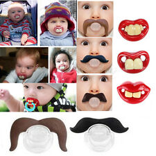 Funny Dummy Dummies Baby Pacifiers Novelty Teeth Moustache Kid Children Soother