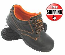 MENS SAFETY SHOES BLACK STEEL TOE CAPS TRAINERS WORK LEATHER CHUKKA BOOTS SIZE
