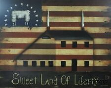 "JON125 Sweet Land Of Liberty John Sliney 16""x20"" framed or unframed print art"