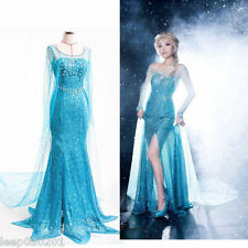 *ADULTS PRINCESS ELSA STYLE COSTUME FANCY DRESS PARTY PRICE FROZEN CHRISTMAS