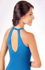 NEW! WOMENS BALLET HALTER TOP LEOTARD WITH KEYHOLE. 3 COLORS AVAILABLE (L424)
